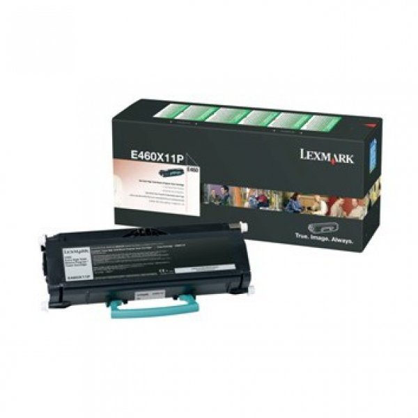 LEXMARK Black Toner Yield 15k Pages For E460X11P