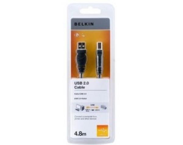 BELKIN Usb2.0 A - B Cable 4.8m ( F3u154bt4.8m F3U154BT4.8M