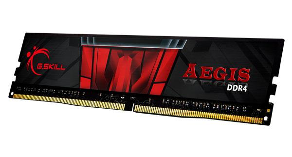 G.skill Aegis 8gb Pc4-21300 Ddr4 2666mhz 19-19-19-43 1.2v Dimm ( F4-2666c19s-8gis )