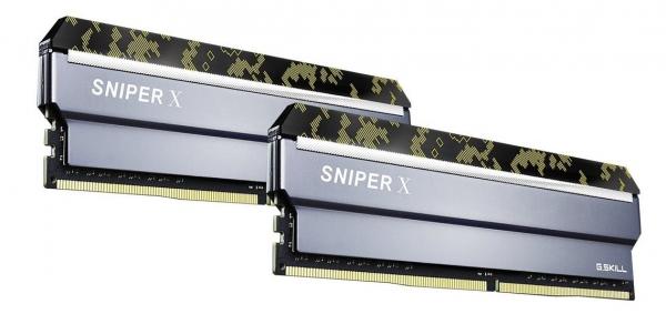 G.Skill Sniperx 16G Kit (2x8G) PC4-25600 DDR4 3200MHz 16-18-18-38 1. (F4-3200C16D-16GSXKB)