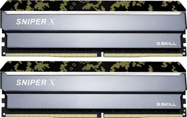 G.Skill Sniperx 32G Kit (2x16G) PC4-25600 DDR4 3200MHz 16-18-18-38 1 (F4-3200C16D-32GSXKB)