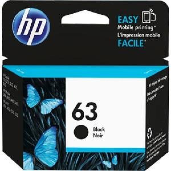 HP  63 Black Original Ink F6U62AA