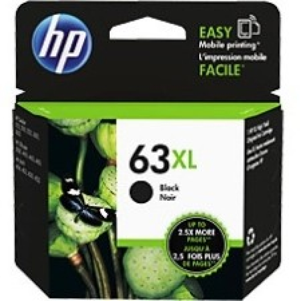 HP  63xl High Yield Black Original Ink F6U64AA