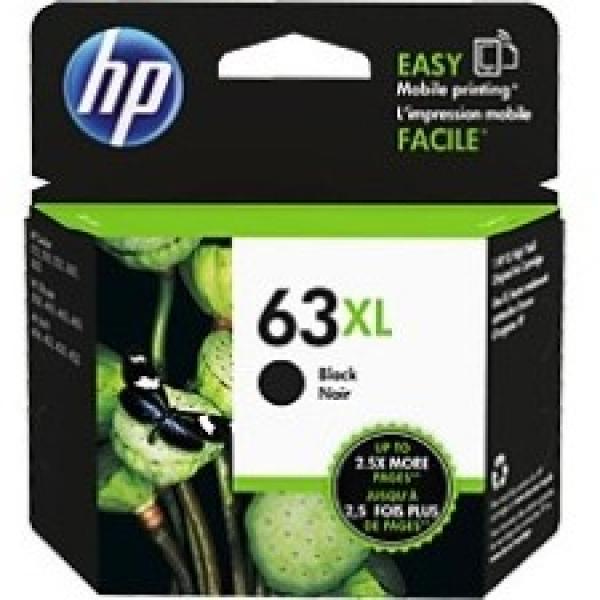 HP  63xl High Yield Black Original Ink F6U64AA