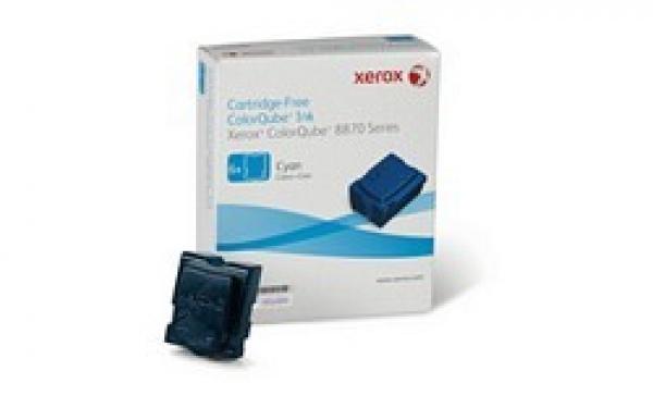 FUJI XEROX PRINTERS Cyan Ink Sticks (6 Pack / 108R00985