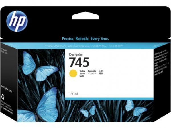 HP Designjet Ink Cartridge No 745 Yellow F9J96A
