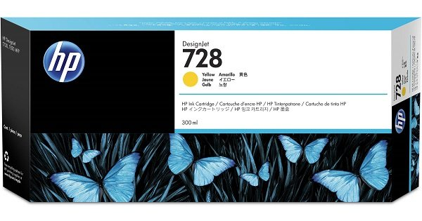 Hp 728 300-ml Yellow Ink Crtg ( F9k15a )