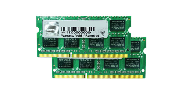 G.SKILL 8g Kit (4gx2) Ddr3 1066mhz 1.50v So-dimm FA-8500CL7D-8GBSQ