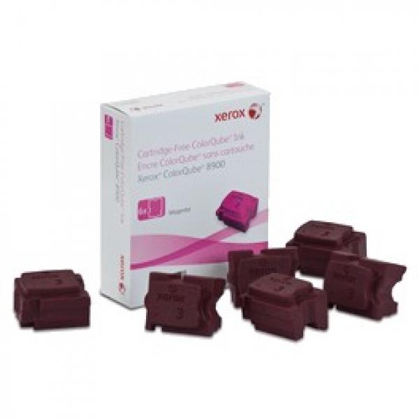 FUJI XEROX PRINTERS Magenta Ink Sticks 6 Sticks 108R01031