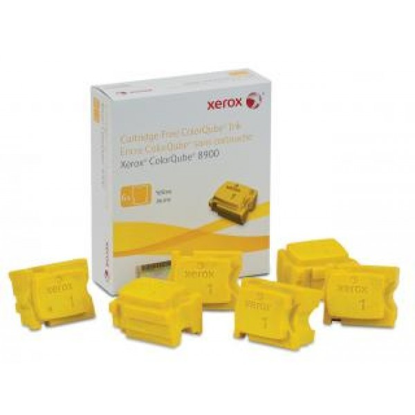 FUJI XEROX PRINTERS Yellow Ink Sticks 6 Sticks 108R01032