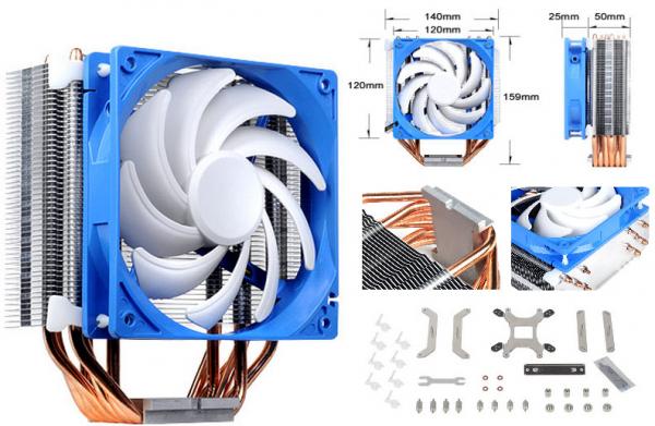 SILVERSTONE  Ar03 12cm Pwm 6 Heatpipe Cpu Cooler G530AR03S410010