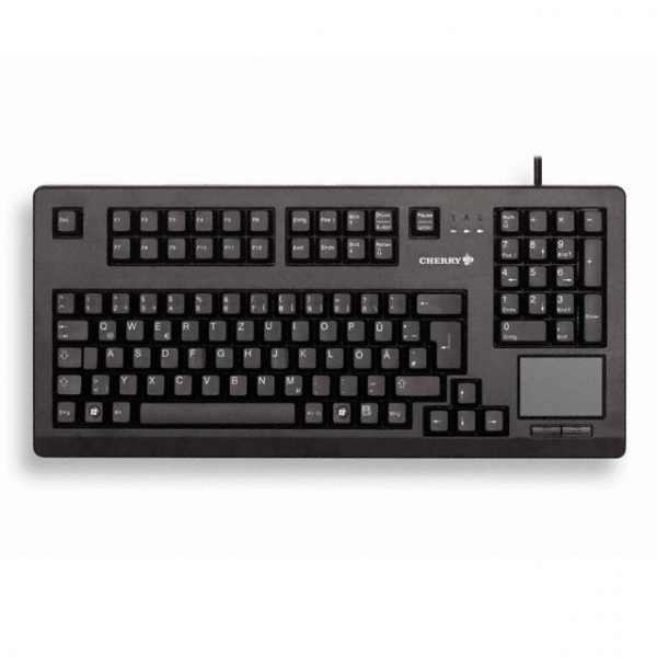 CHERRY Black 16in Usb Keyboard With Touchpad G80-11900LUMEU-2
