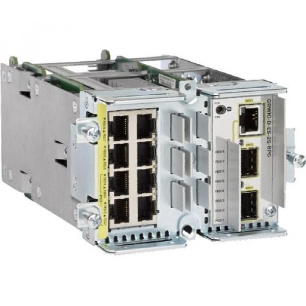 CISCO  Etherswitch 8x 10/100t (4 Poe) Ports + 2 GRWIC-D-ES-2S-8PC