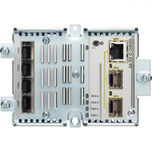 CISCO  Etherswitch 4 100fx Sfp Ports + 2 GRWIC-D-ES-6S