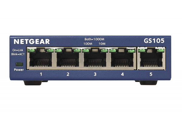 NETGEAR Ntg 5-port Gigabit Ethernet Switch- 5 GS105