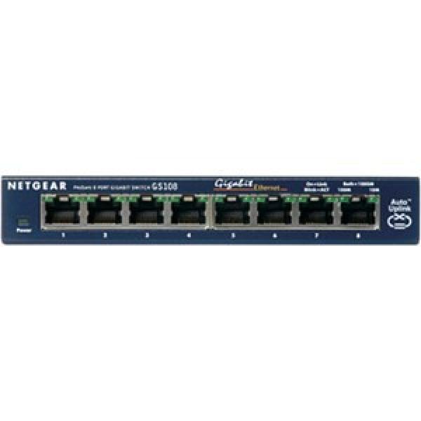 NETGEAR Ntg 8-port Gigabit Ethernet Switch- 5 GS108