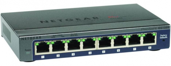 NETGEAR Gs108e Prosafe Plus 8-port Gigabit GS108E-300AUS