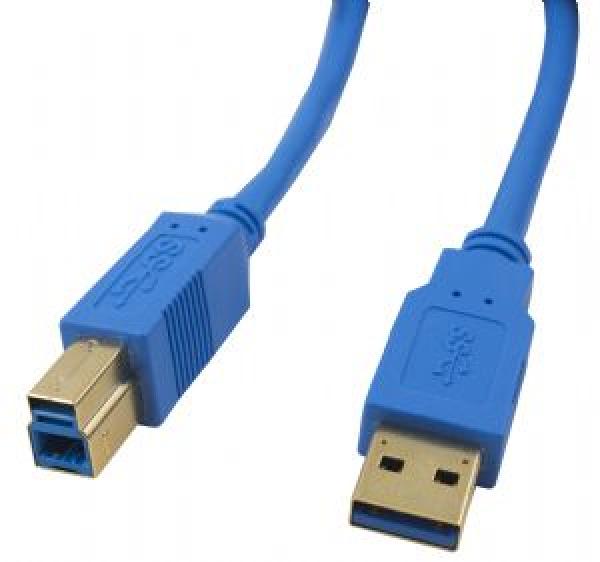 CABAC Cable 3m Usb 3.0 Am-bm Gold/p Blue Cable ( H40USB3AMBM3