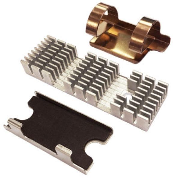 Qnap Heatsink For M.2 SSD Module 2PCS Dark Green NAS Accessories (HS-M2SSD-02)