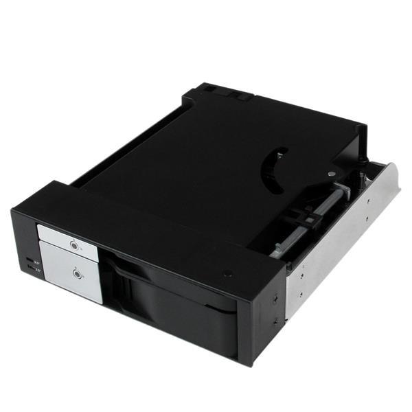 Startech Dual Bay 5.25 Trayless Hot Swap Mobile External Desktop (HSB2535SATBK)