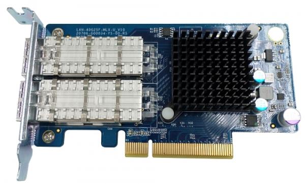 Qnap Dual-port 40GBE QSFP+ Network Expansion NAS Accessories (LAN-40G2SF-MLX)