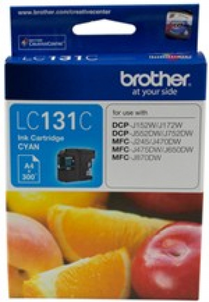 BROTHER Cyan Ink 300 Pages Dcp-j152w LC-131C