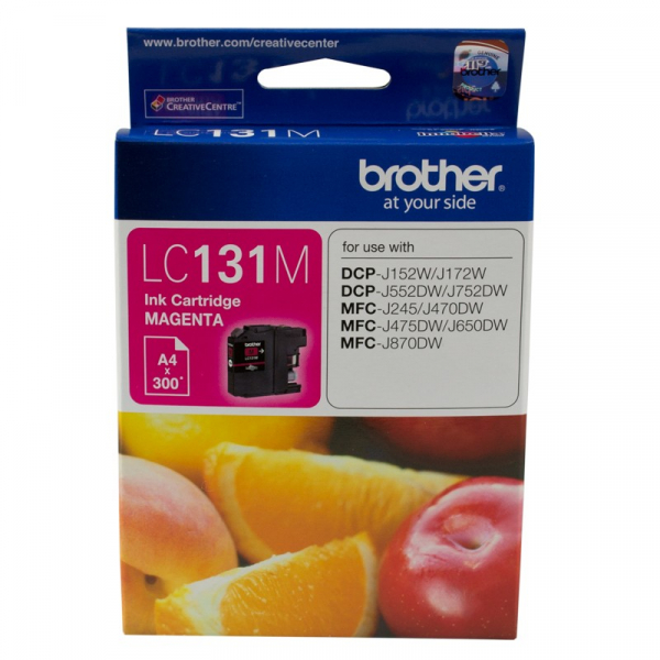 BROTHER Magenta Ink 300 Pages Dcp-j1 LC-131M