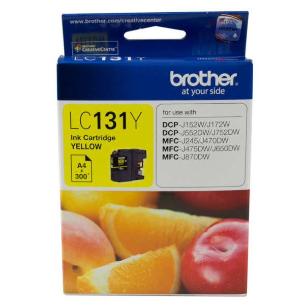 BROTHER Yllw Ink 300 Pages Dcp-j152w LC-131Y
