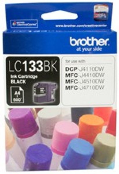 BROTHER Blk Ink Cart Dcp-j4110dw LC-133BK