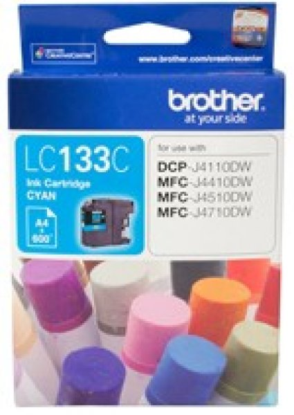 BROTHER Cyan Ink Cart Dcp-j4110dw LC-133C