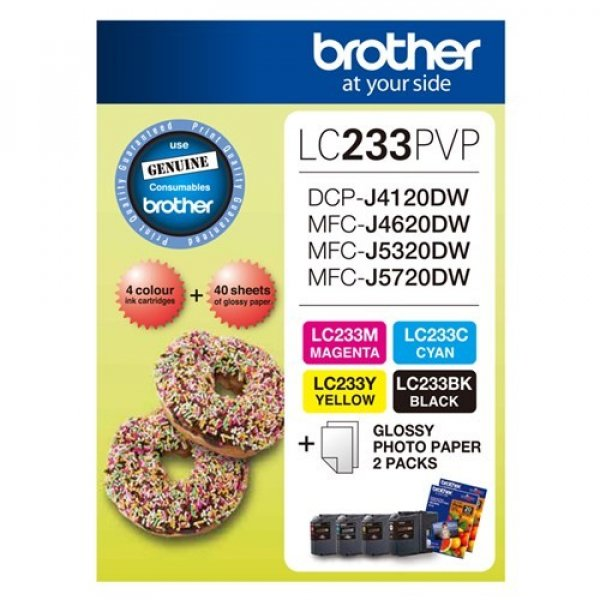 BROTHER Lc233 Photo Value Pack 1xblack 1xcyan LC-233PVP