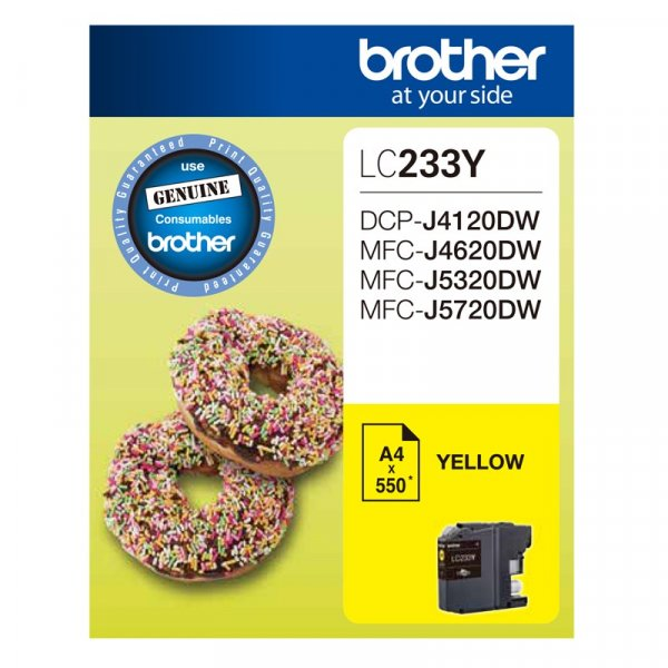 BROTHER Yellow Ink Cartridge LC-233Y