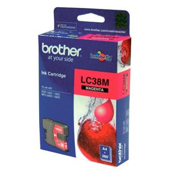 BROTHER Lc38 Magenta Ink 260 Page Yield For 165 LC-38M