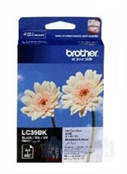 BROTHER Lc39 Black Ink Cartridge LC-39BK