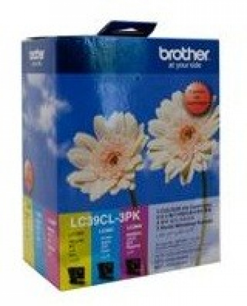 BROTHER Lc39 Cym Triple Ink 3x 260 Page Yield LC-39CL3PK