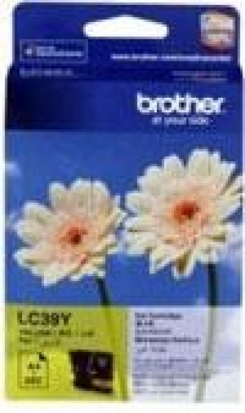 BROTHER Lc39 Yellow Ink 260 Page Yield For 315 LC-39Y
