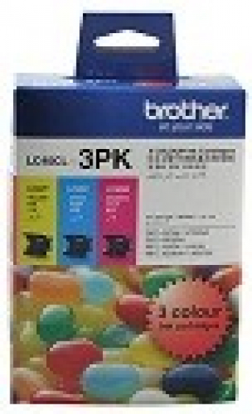 BROTHER Lc40 Cym Triple Ink 3x 300 Page Yield LC-40CL3PK