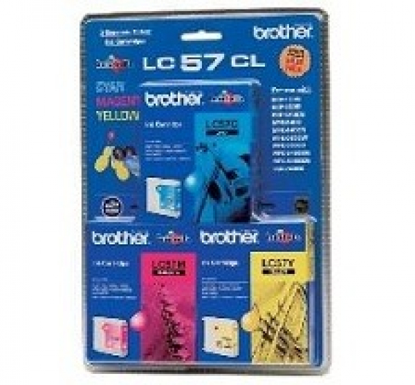 BROTHER Lc57 Cym Triple Ink 3x 400 Page Yield LC-57CL3PK