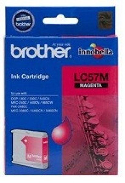 BROTHER Lc57 Magenta Ink 400 Page Yield For LC-57M