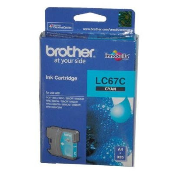 BROTHER Lc67 Cyan Ink 325 Page Yield For 5890 LC-67C