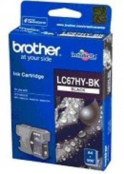 BROTHER Lc67 Black Hy Ink 900 Page Yield For LC-67HYBK