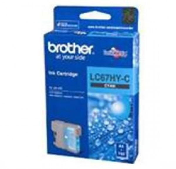 BROTHER Lc67 Cyan Hy Ink 750 Page Yield For LC-67HYC