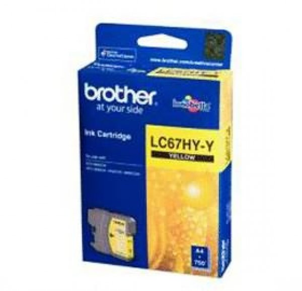 BROTHER Lc67 Yellow Hy Ink 750 Page Yield For LC-67HYY
