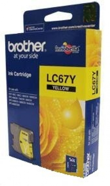 BROTHER Lc67 Yellow Ink 325 Page Yield For 5890 LC-67Y