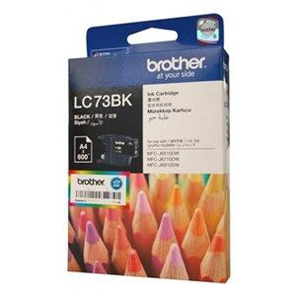 BROTHER Lc73 Black Ink 600 Page Yield For J6510 LC-73BK