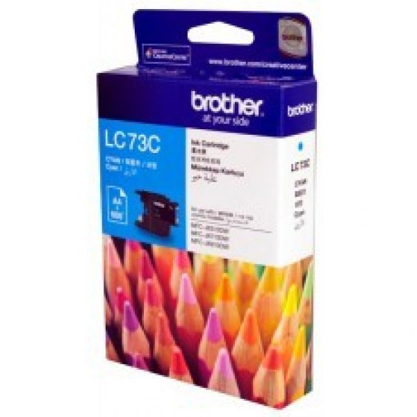 BROTHER Lc73 Cyan Ink 600 Page Yield For J6510 LC-73C