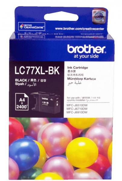 BROTHER Lc77 Xl Black Ink 2400 Page Yield For LC-77XLBK