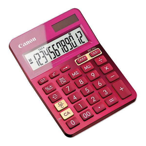 CANON Metallic Pink 12 Digit Desktop Calculator LS123KMPK