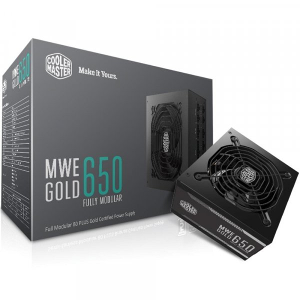 COOLER Master MWE 650W Gold Fully Modular A/AU Cable Power Supply