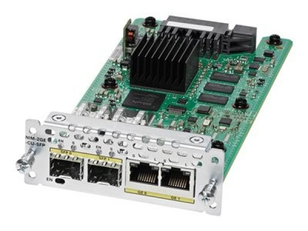 CISCO  2-port Ge Wan Nim Dual-mode Rj45 & NIM-2GE-CU-SFP